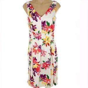 Ralph Lauren white floral fit & flare dress